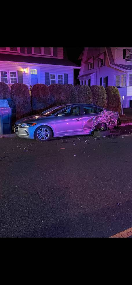 Two-Vehicle Crash at Madison Hill and Cornell Sends Driver to Hospital Friday Night