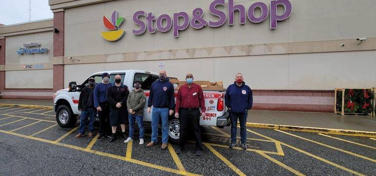 Hackensack Firefighters Donate Turkeys, Nonperishables To Center for Food Action