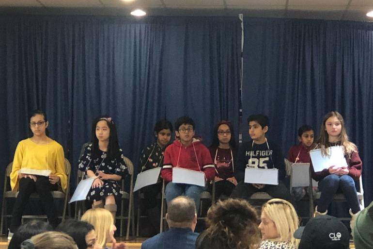 South Plainfield Fourth and Fifth Graders Compete in 6th Annual Spelling Bee