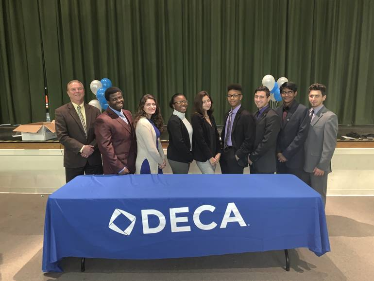 DECA Chapter of South Plainfield High School Holds 2019 Induction and Installation Ceremony