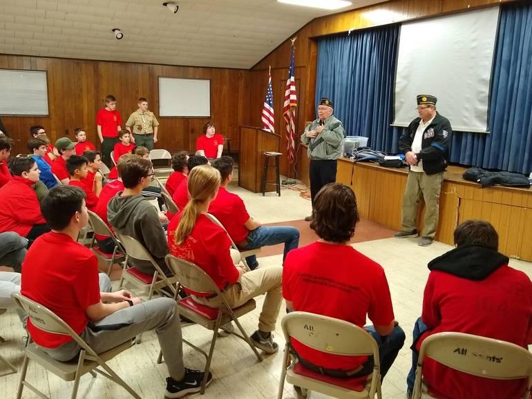 BSA Troop 104 hosts American Legion Post 209