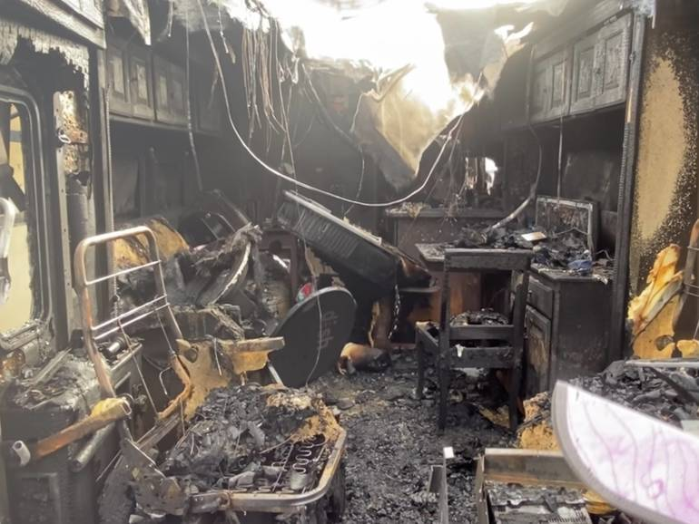 Former MTHS Teacher's RV Destroyed in Fire