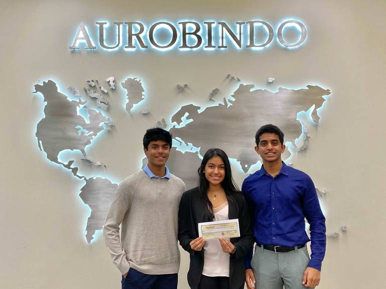 With Roots in Holmdel: Altrui Foundation Receives $3000 Donation From Aurobindo Pharmaceuticals USA, Inc.