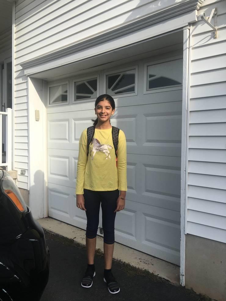 Aditi Panta, first day of fifth grade at Eisenhower