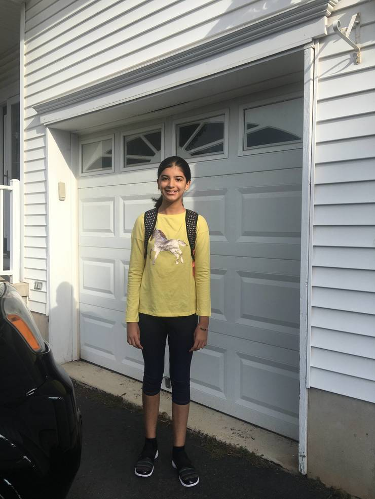 Aditi Panta, first day of fifth grade at Eisenhower