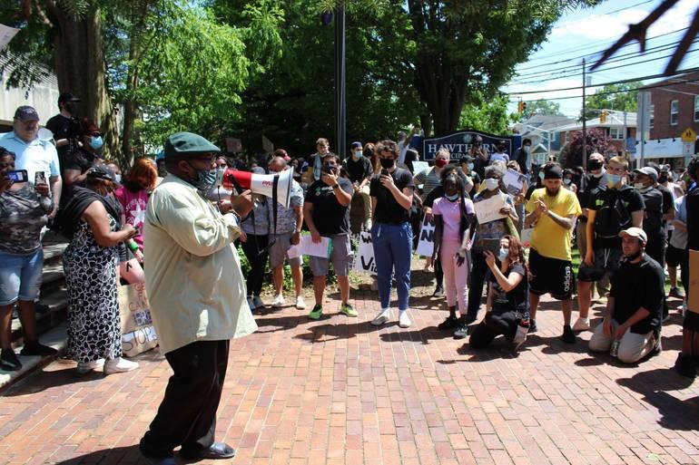 """Black Lives Matter"" Thunders at Hawthorne Rally"
