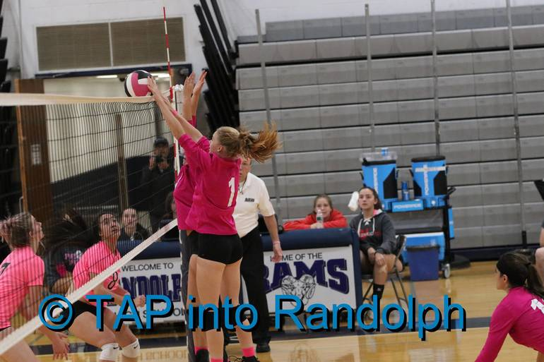 """Randolph Girls Volleyball Wins Third in a Row While Hosting """"Dig For A Cure"""" Breast Cancer Fundraiser"""