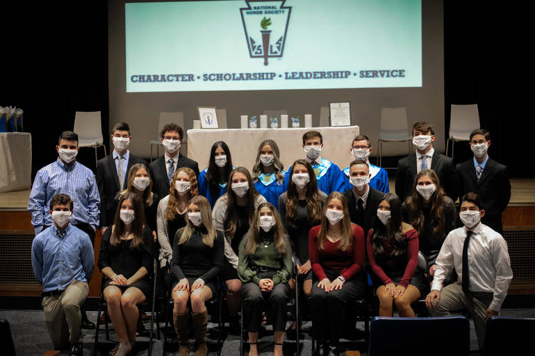 16 ALJ Students Inducted into National Honor Society Tuesday