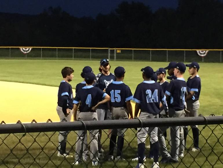 Coaching the PAL 14U Spring team in the Mt. Olive Tournament
