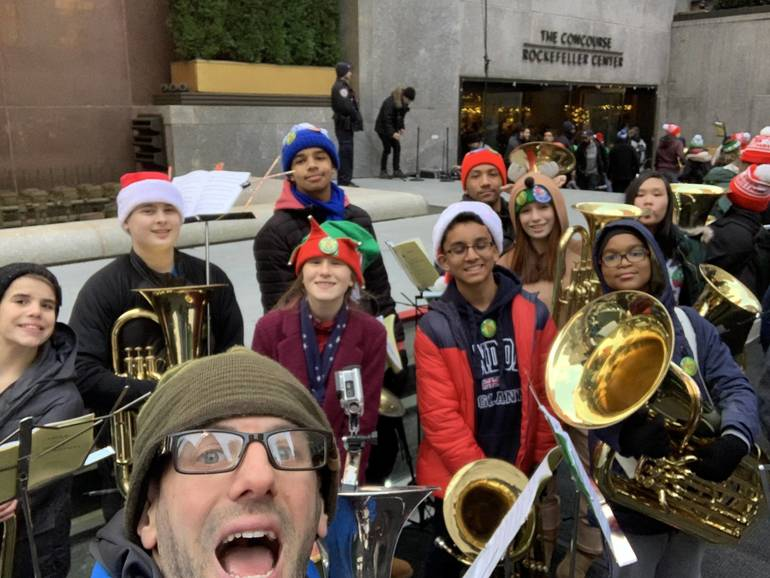 South Plainfield Students at Rockefeller Center