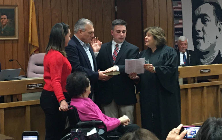 Zachary Bray is sworn in.