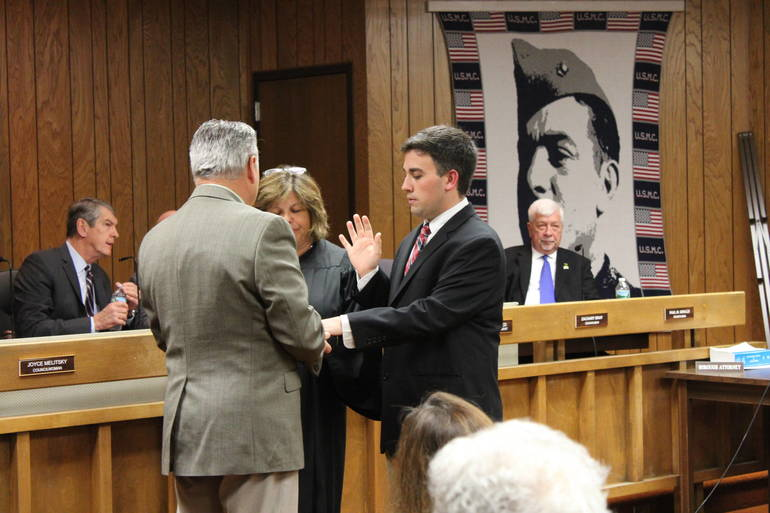 Zachary Bray is sworn in.