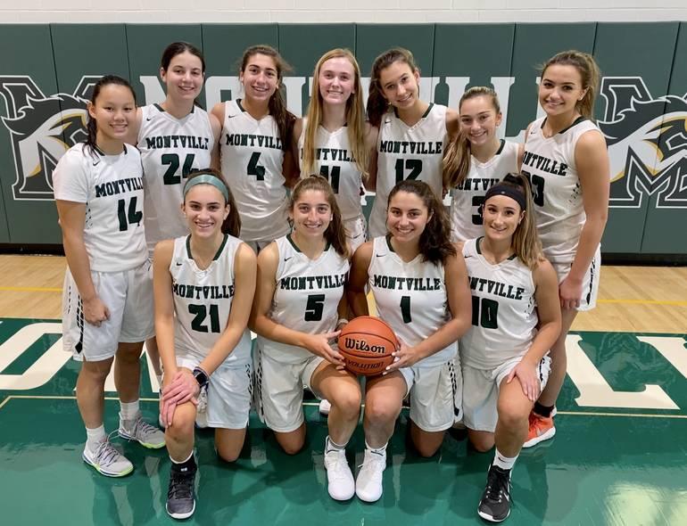 The 2019-20 Montville girls basketball team