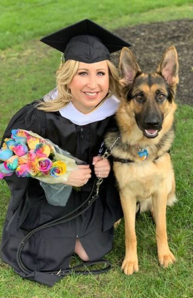 Lisa Klink and her puppy Thor
