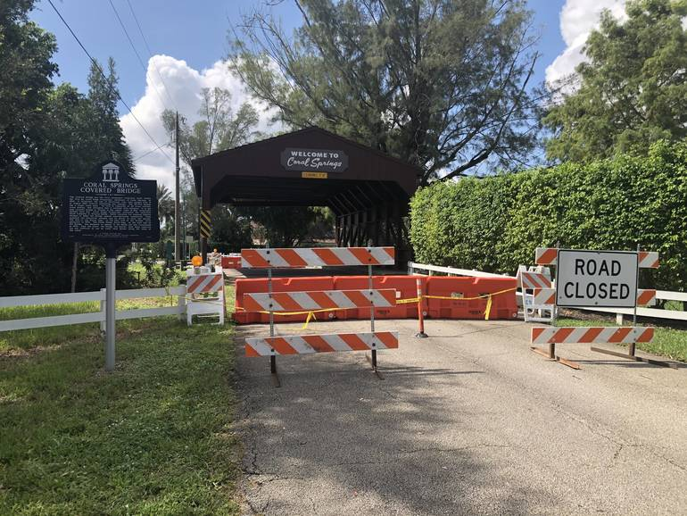 """Coral Springs """"Covered Bridge"""" To Be Closed For Up To Six Weeks"""