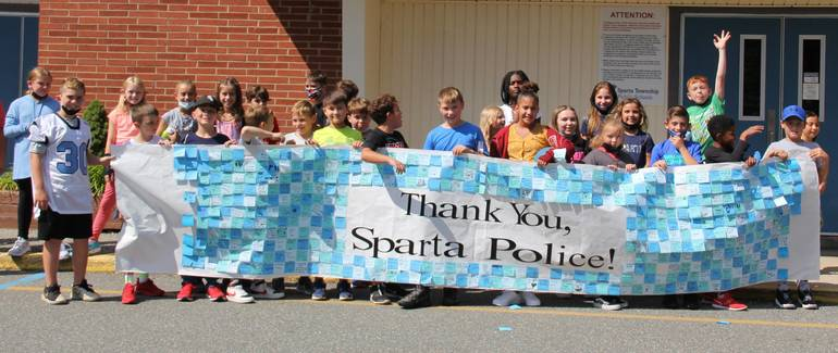 Sparta's First Responders Parade Past Elementary Schools as 9/11 Anniversary Approaches