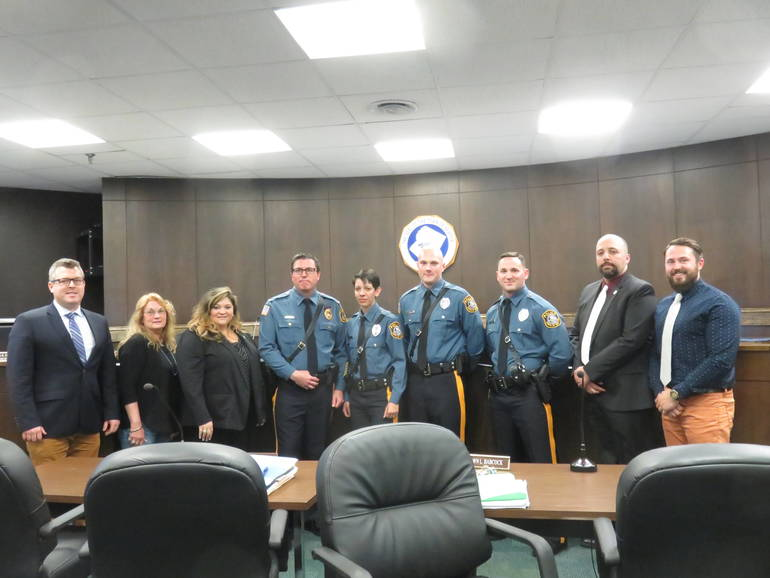 Newton Swears in Three New Police Officers Including First Full-Time Female Officer
