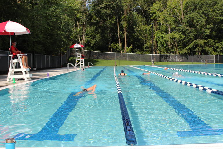 Lap swim at BHCP at the YMCA