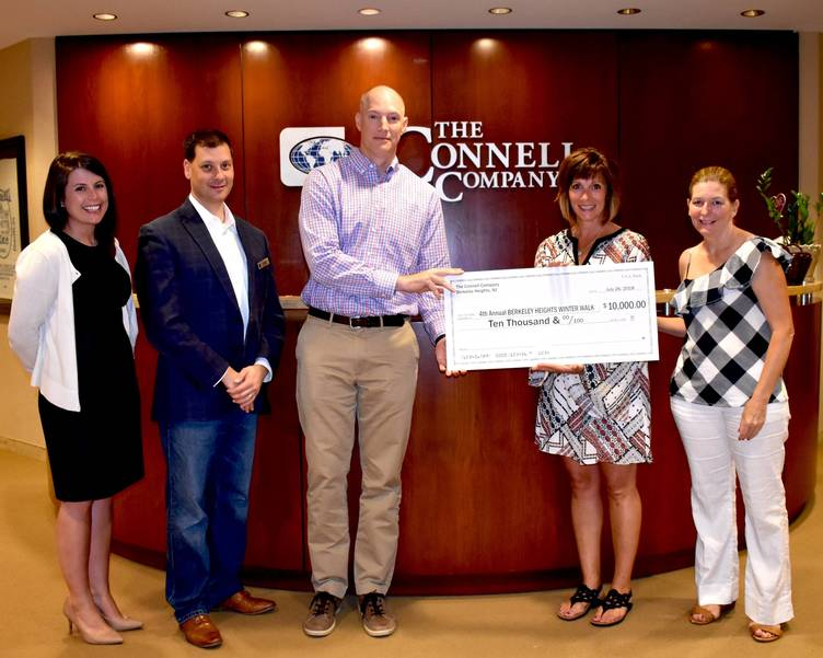 The Connell Company, Embassy Suites Presents $10,000 Check for 4th Annual Winter Walk