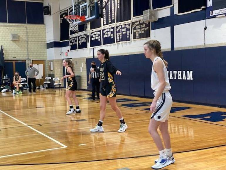 Chatham Girls Basketball Jayvee Finish 14-0 Season; Tortorella, Frohnapfel Each Contribute a 3-Pointer in Varsity Debuts