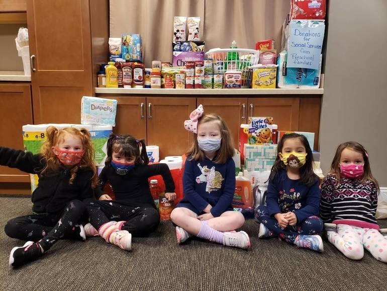 Hillside Preschool In Succasuna has Food Drive for Social Services