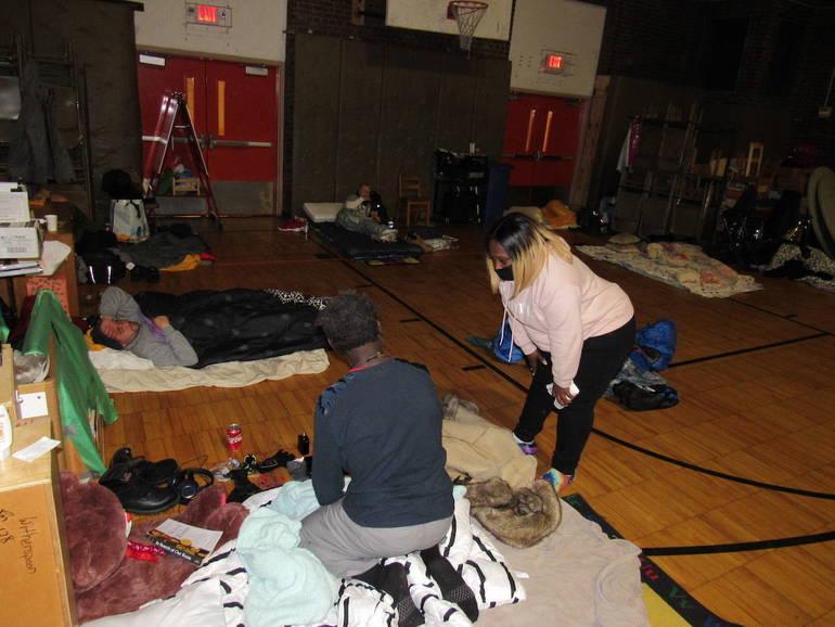 Tireless Camden Activist Converts School Gym Into Cozy Shelter