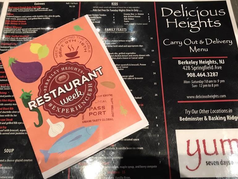 Special Restaurant Week menus