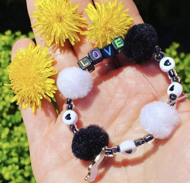 Black and White Love Bracelet