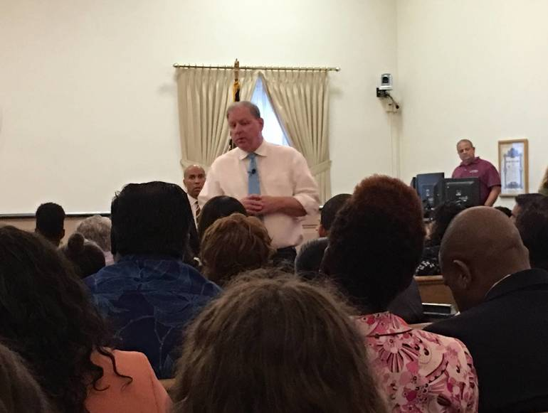 U.S. Senator Cory Booker and State Senator Joe Cryan Pack Room at Town Hall Meeting