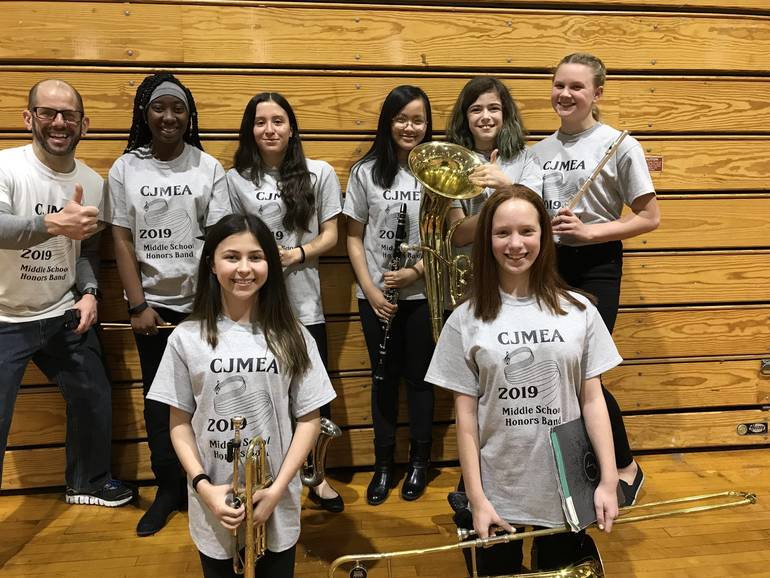 Middle School Honors Band Participants