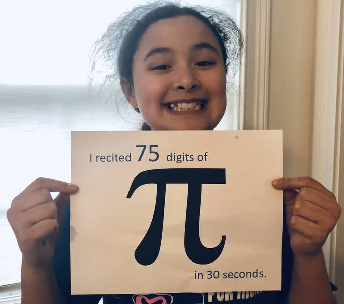 Pi Day (March 14) celebration at Holy Trinity School in Westfield.