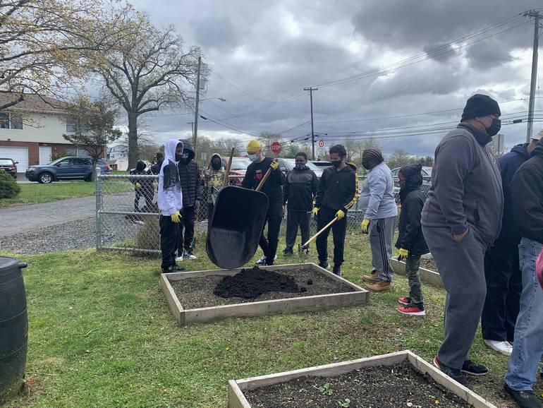 Vauxhall Community Garden Teaches Young Men Essentials of Gardening