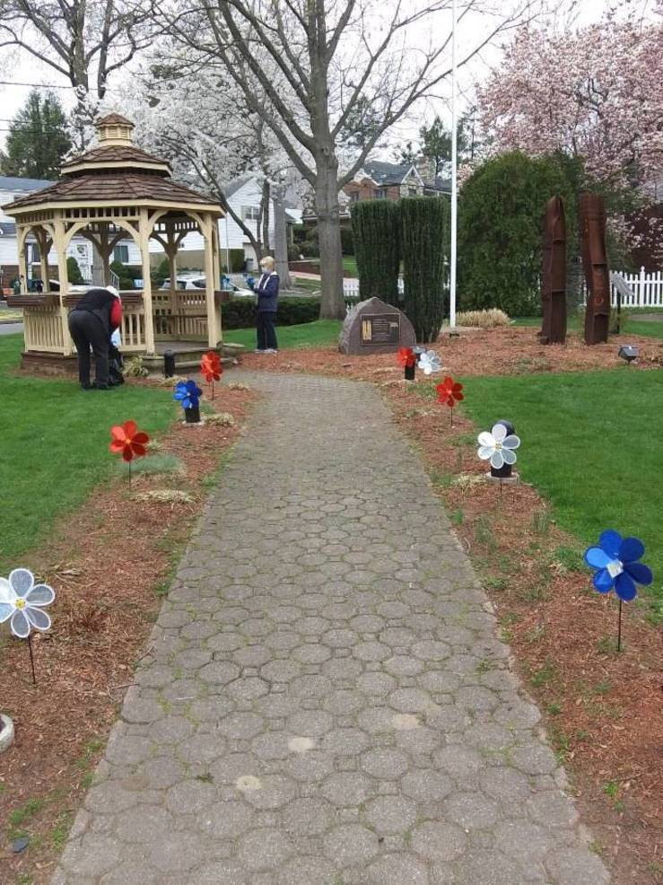 Hasbrouck Heights Contemporary Club Remembers Child Abuse Prevention Month with Pinwheel Garden