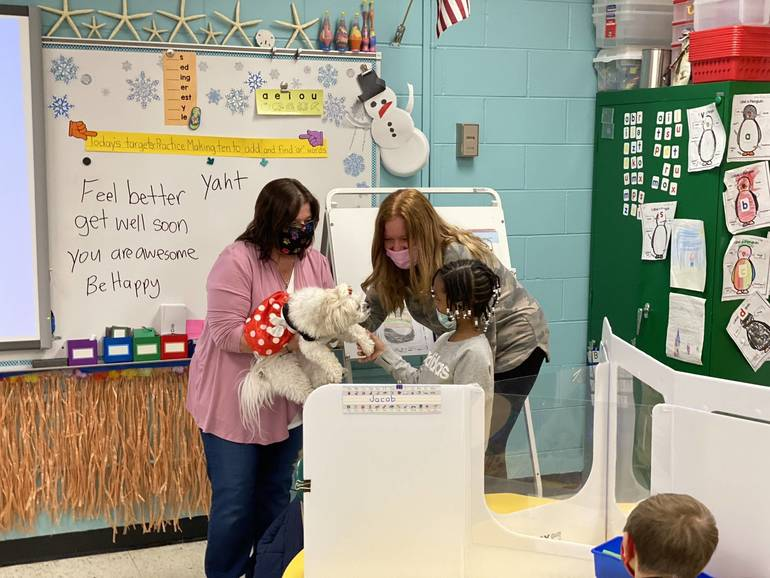 Therapy Dog Lends a Paw to Relieve Stress for Barnegat Students