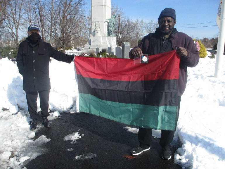 Paterson Veterans Honor Black Soldiers, Raise of African American Flag at Memorial to All Who Served