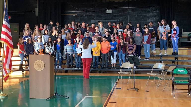 South Plainfield Middle School Holds Annual Ceremony to Honor Veterans