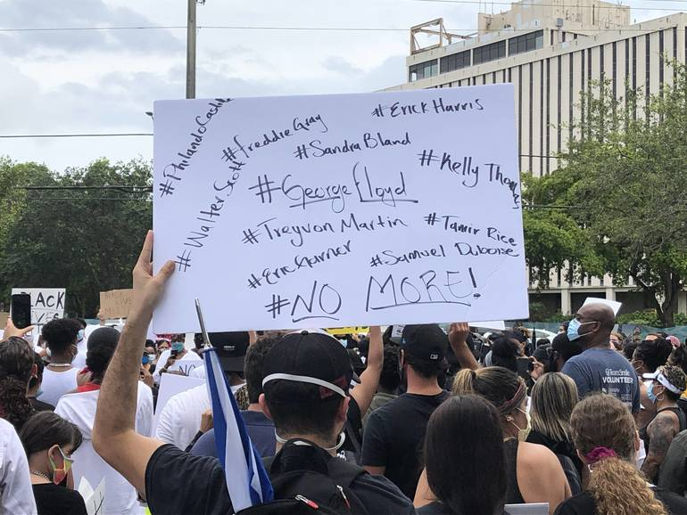 Hundreds Gathered Tuesday in Coral Springs To Protest Killing of George Floyd