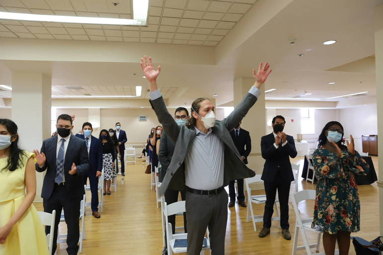 """Residents' Graduation Ceremony Marks End of """"COVID Class"""" at Saint Michael's Medical Center"""