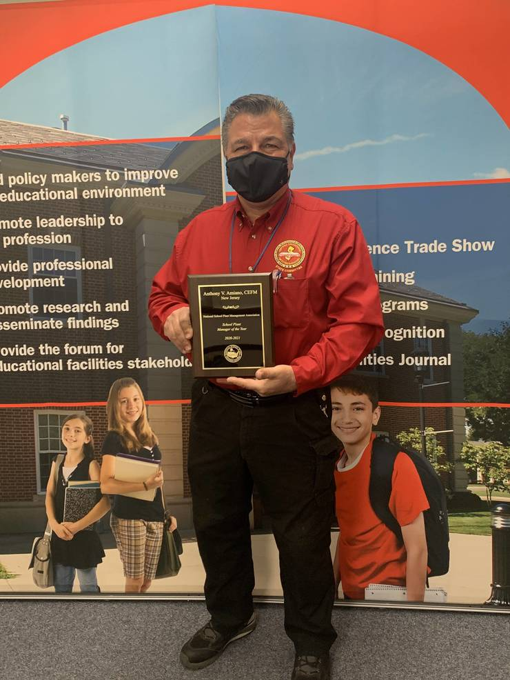 Anthony Amiano Recognized by the National School Plant Management Association (NSPMA) with the National School Plant Manager of the Year Award