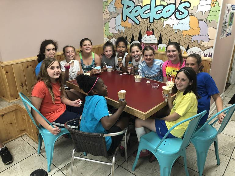 Celebration at Rocko's Ice Cream in downtown Fanwood