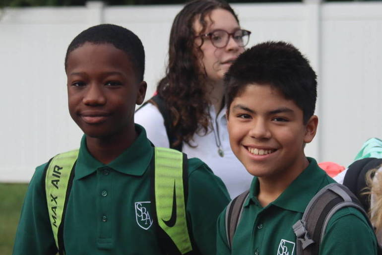 First day of school at St. Bartholomew Academy in Scotch Plains
