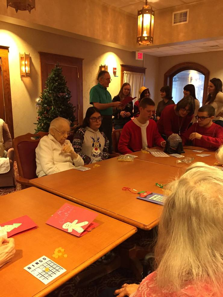 Wallkill Valley Students create Valentines for the Troops and write to their pen pals at Bristol Glen Assisted Living