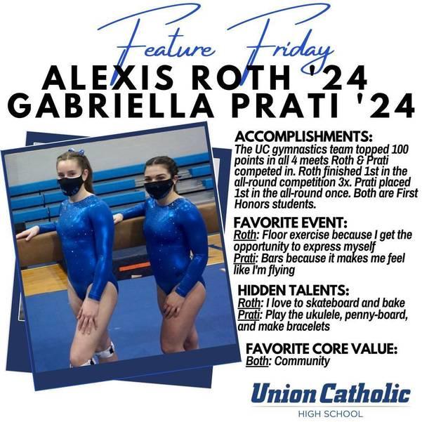 Alexis Roth and Gabriella Prati Have Made Immediate Impact On The Union Catholic Gymnastics Team