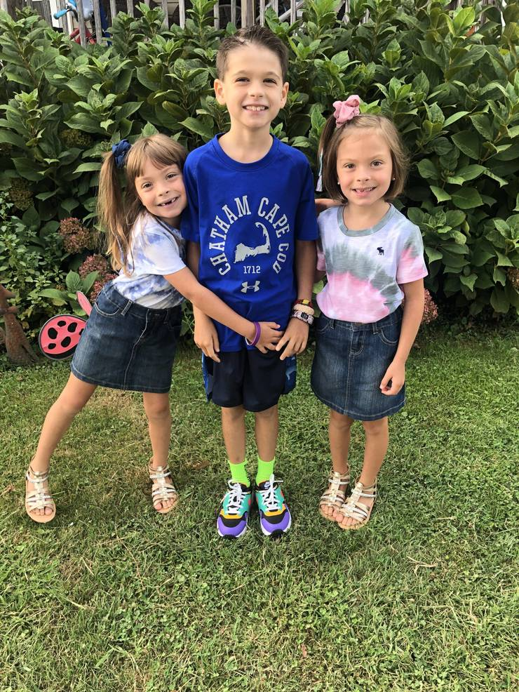 Gavin Windrem, grade 4 at JFK, and Caitlyn and Evelyn Windrem, grade 1 at JFK