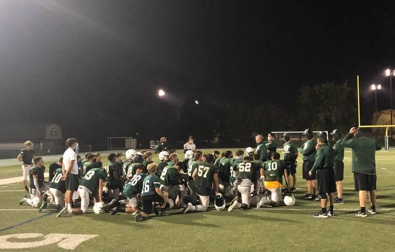 Montville football hosts Livingston in scrimmage