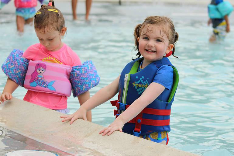 Kids at the BHCP at the YMCA Kiddie Pool