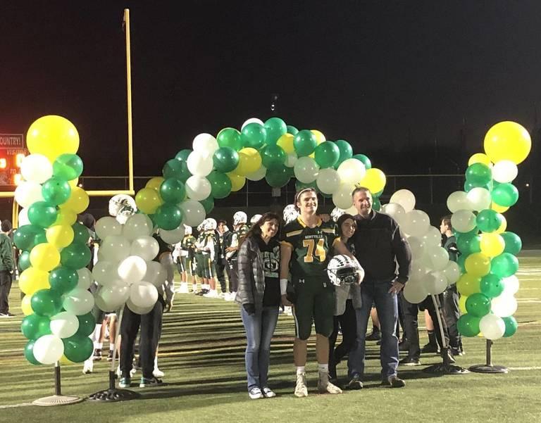 Montville football senior night