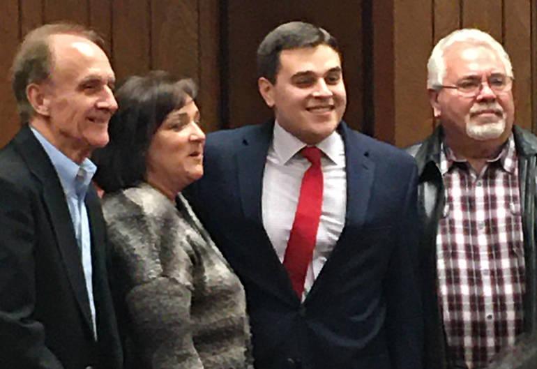 Council president Nicolas Carra with his family