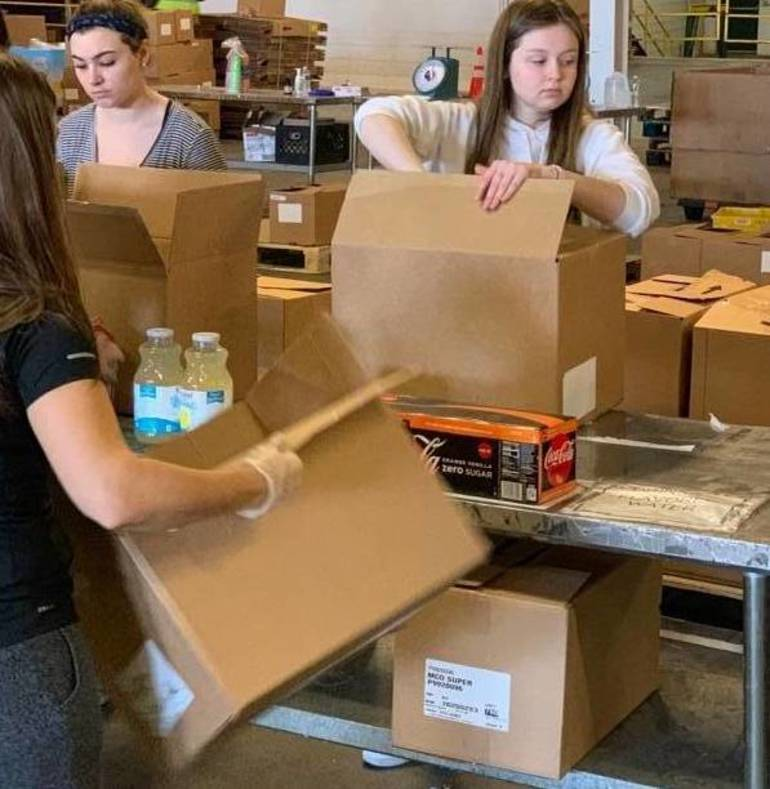 Rotary Club of Union Donates Time and Money to Community FoodBank of New Jersey