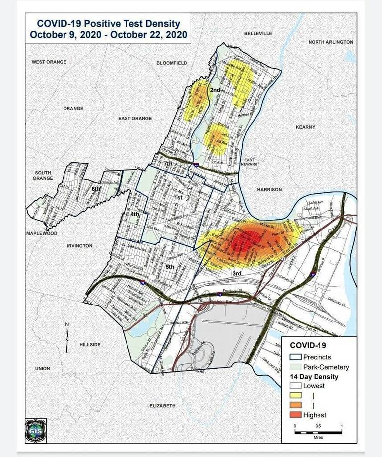 Newark Imposing Increased  COVID-19 Restrictions Following Spike in Cases